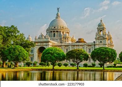 Beautiful Victoria Memorial in India