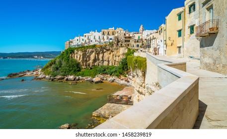 The beautiful Vieste on a sunny summer day. Gargano, Puglia (Apulia), southern Italy.