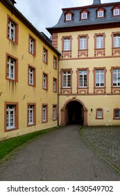 Beautiful view, administrative building, public park of the Steinfeld Abbey,  Germany