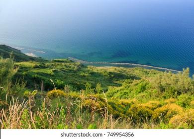 Beautiful view of the Adriatic coast of Emilia-Romagna near to Rimini