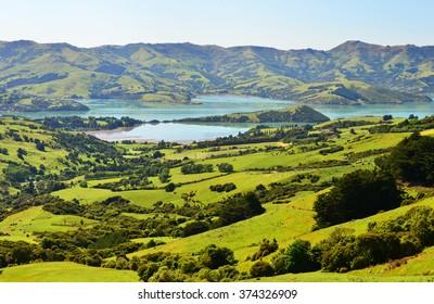 A beautiful view of Akaroa, New Zealand