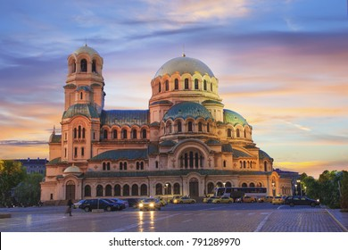 A beautiful view of the Alexander Nevsky Cathedral in Sofia, Bulgaria