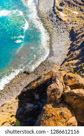 Beautiful view along the road to Cape Teno. Tenerife. Canary Islands.