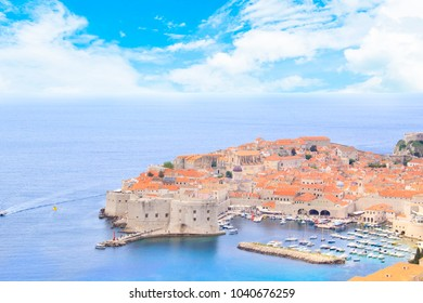 Beautiful view of the ancient city of Dubrovnik, Croatia