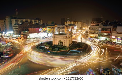 Beautiful View Of Bahadurabad Chorangi, Karachi, Pakistan - Landmark Of Karachi Which Is Very Famouse For Night Life And Food - Long Exposure Photography 15/01/2018