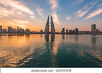 Beautiful view of Bahrain World Trade Center taken on 2017 - Manama, Bahrain