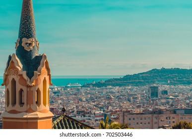 Beautiful view of Barcelona. Spain. Panorama