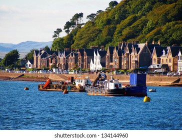 A beautiful view of the bay at Oban, Scotland