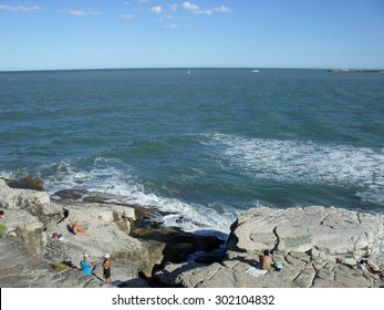 Beautiful view of the beach on the Atlantic Coast South of Buenos Aires in summer, Argentina