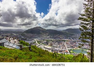 Beautiful view of Bergen city, Norway
