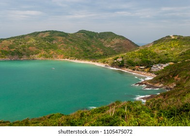 Beautiful view of Brava beach (Praia Brava) at Buzios, Rio de Janeiro, Brazil. Praia Brava offers perfect conditions for surfing, bodyboarding and also scuba. - Shutterstock ID 1105475072