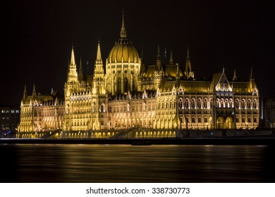 Beautiful view of the Budapest Parliament at night. Hungary
