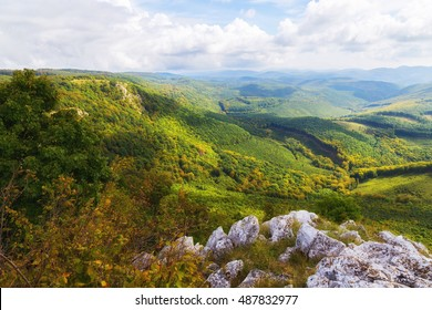 Beautiful view in Bukk forest in Hungary