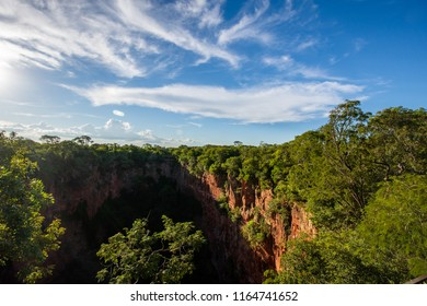 Beautiful view of Buraco das Araras, Macaw´s Hole,  at the city of Jardim, South Pantanal at Mato Grosso do Sul.