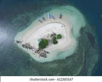 beautiful view by drone.gili kedis locate at lombok island,indonesia
