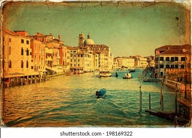 The beautiful view of a Canal Grande  in Venice, Italy