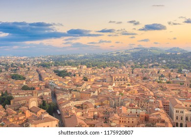 Beautiful view of the center of Bologna, Italy
