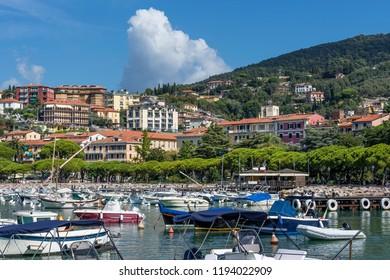Beautiful view of the center and marina of Lerici, La Spezia, Liguria, Italy