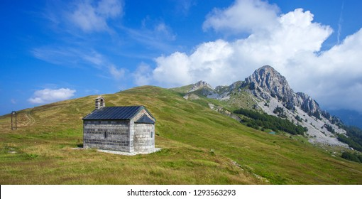Beautiful view of Church in the mountains of Montenegro