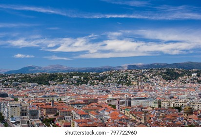A beautiful view of the city of Nice, France
