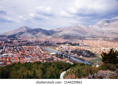 Beautiful view of the city of Sarajevo, Bosnia and Herzegovina.