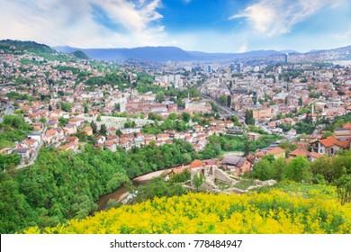 Beautiful view of the city of Sarajevo, Bosnia and Herzegovina
