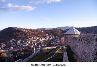 Beautiful view of the city Travnik from the Travnik castle, Travnik, Bosnia and Herzegovina