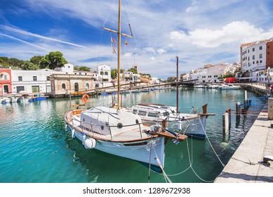 Beautiful view of Ciutadella de Menorca town, Menorca island, Spain