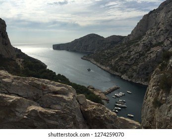 Beautiful view of the coast of the Calanques National Park in the Provence, France.
