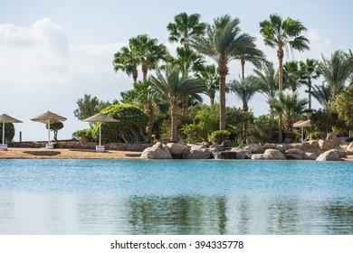 Beautiful view of coastline, Egypt