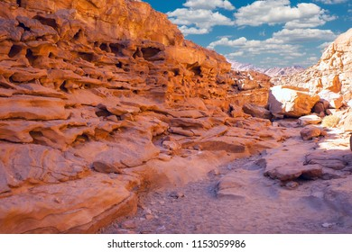 beautiful view of the colored canyon in Egypt,  Beautiful rock texture