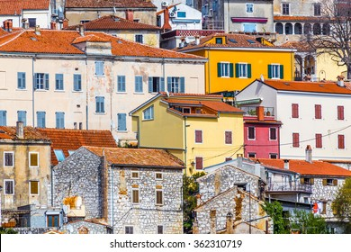 Beautiful View Of Colorful Buildings In Vrsar Village-Istria,Croatia,Europe
