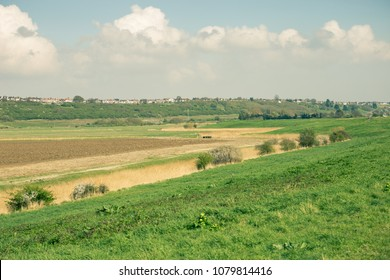 beautiful view of countryside Essex (UK) on a summer day