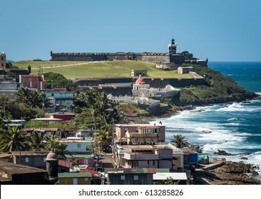 Beautiful view of El Morro, San Juan Puerto Rico.