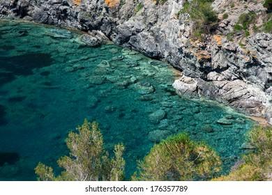 beautiful view in Elba Island