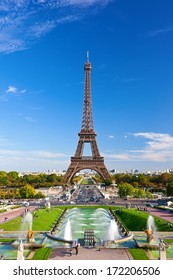 Beautiful view of famous Eiffel Tower in Paris, France