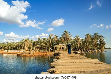 Beautiful View of Fatnas Island, Siwa, Egypt