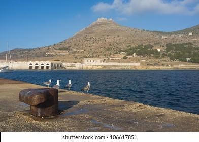 Beautiful view of Favignana island in the Aegadi's archipelago