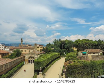 Beautiful view of Florence and part of Boboli Gardens - Florence Italy