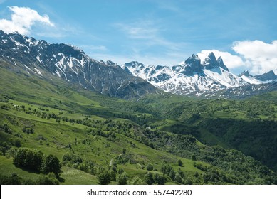 Beautiful view in the French Alps
