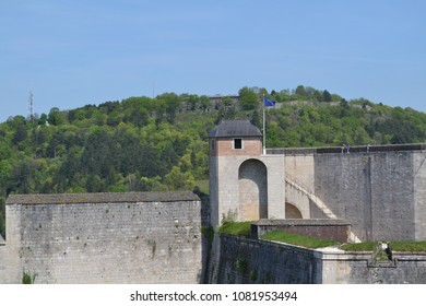 beautiful view of french's citadel in Besancon