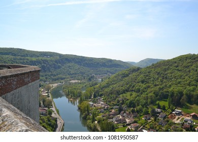 beautiful view of french's river Doubs in Besancon
