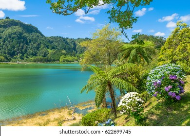 "Beautiful view of Furnas Lake ""Lagoa das Furnas"" in São Miguel Island - Azores - Portugal"