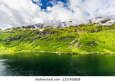 Beautiful view of Geirangerfjord, Norway