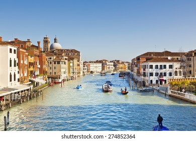 A beautiful view of a Grand Canal in Venice, Italy