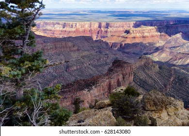 Beautiful view of Grand Canyon National Park from the North Rim of the canyon