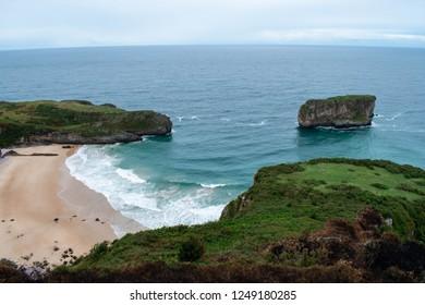 Beautiful view in green Asturias, north of Spain.