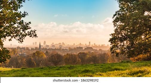 beautiful view from Hampstead Heath medow, London