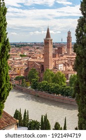 Beautiful view of the historic center of Verona in Italy