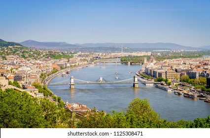 Beautiful view of historic part of Budapest and the Danube River